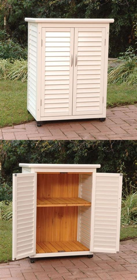 outdoor wood storage cabinet best 25 outdoor storage units ideas on