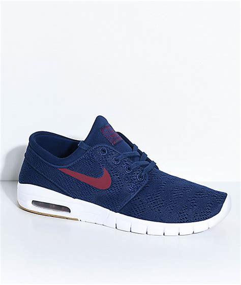 Nike Sb Janosky Blue nike sb janoski air max blue gum skate shoes zumiez