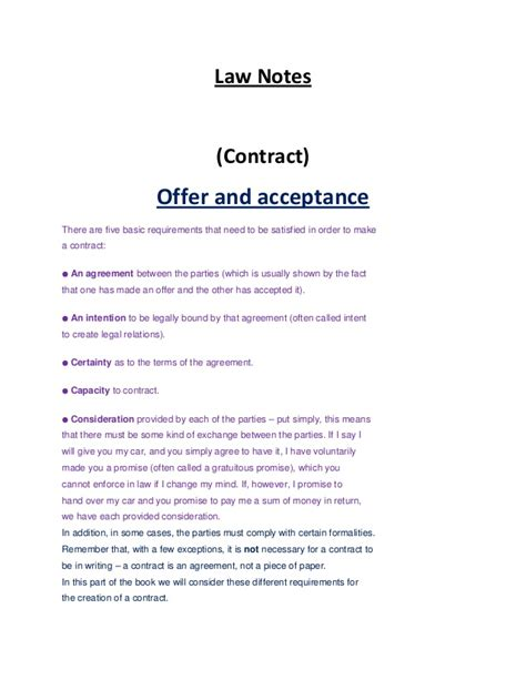 Bookkeeping Agreement Template law notes torts and contract