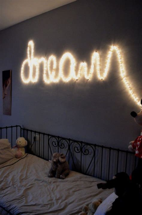 Bedroom Wall Light Decoration How You Can Use String Lights To Make Your Bedroom Look Dreamy