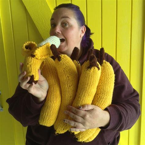 Monkey Yellow Top Knit banana tree yarnbomb knits for