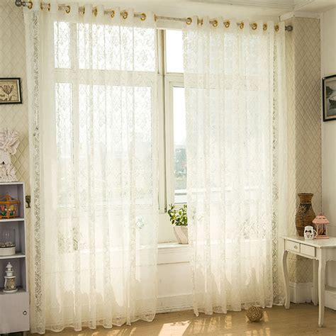 translucent curtains fresh elegant style jacquard curtain decoration