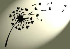 dandelion hearts shabby chic mylar stencil vintage a4