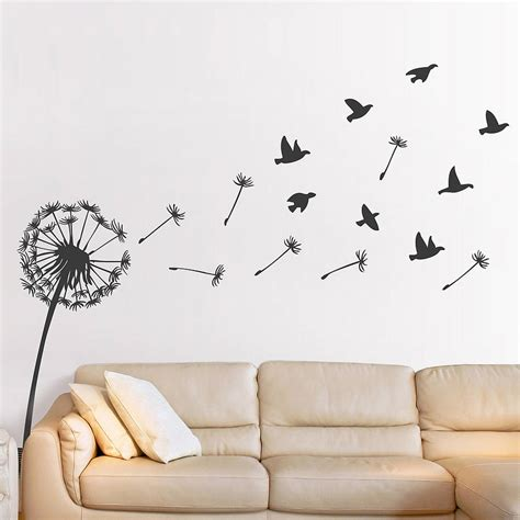 wall sticker designs dandelion wall sticker spare vinyl wall stickers and designs