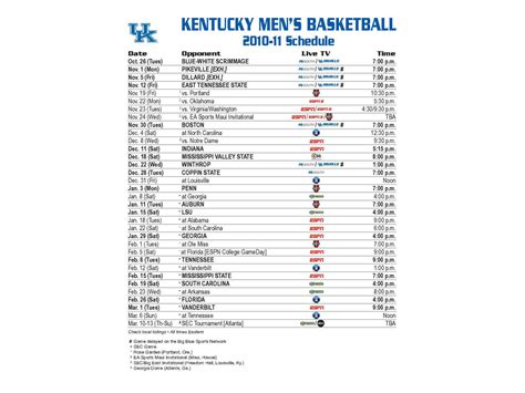 Printable Kentucky Basketball Schedule 2014 15 | related keywords suggestions for kentucky basketball