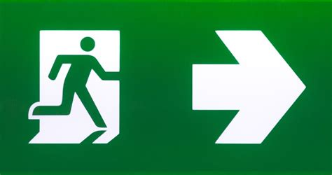 Blueprint Door Symbol by Green Emergency Exit Sign Ready Nutrition