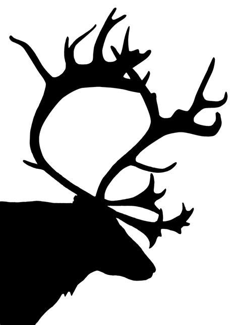 Fun Reindeer Head Silhouette Search Results Calendar 2015 Reindeer Silhouette Template