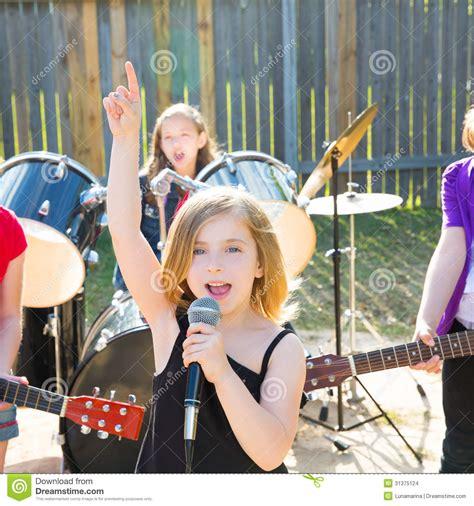 backyard band gogo downloads chidren singer girl singing playing live band in backyard