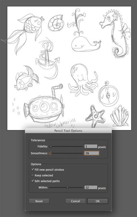tutorial doodle illustrator create a summer underwater seamless pattern in adobe