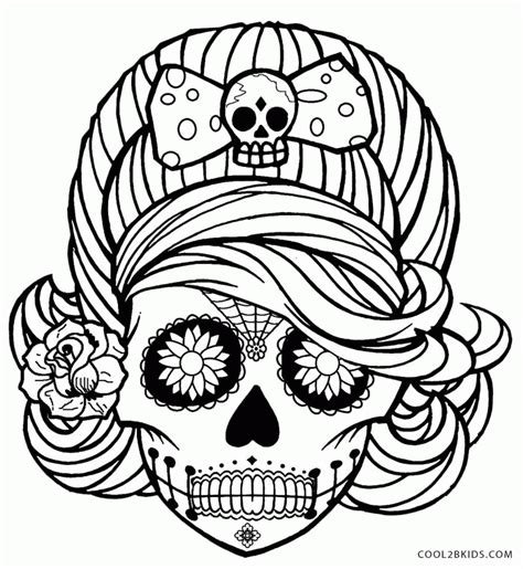 sugar skull coloring page pdf printable of sugar skulls coloring pages for kids and