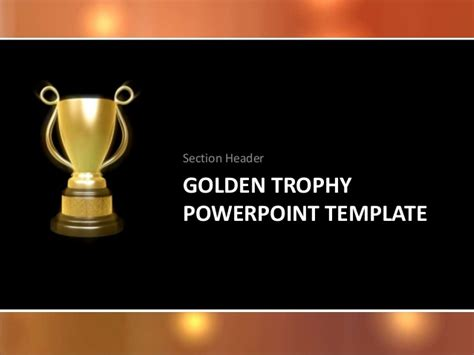 free ppt templates for winners golden trophy cup template