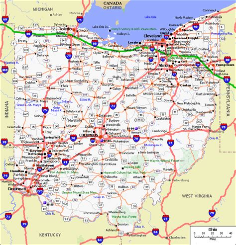 ohio in usa map ohio map