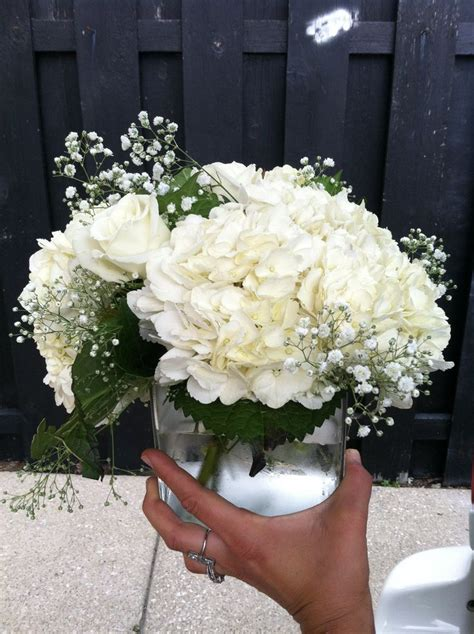 6 diy peony rose and hydrangea centerpieces for 50 white hydrangea white rose and babysbreath centerpiece