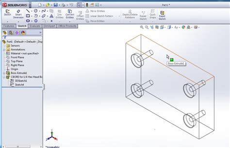 solidworks tutorial read only how to use solidworks hole wizard tool for creating designs