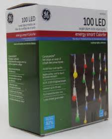 Colored Icicle Lights Ge 100 Led Multi Color Sugar Plum Icicle Style Lights