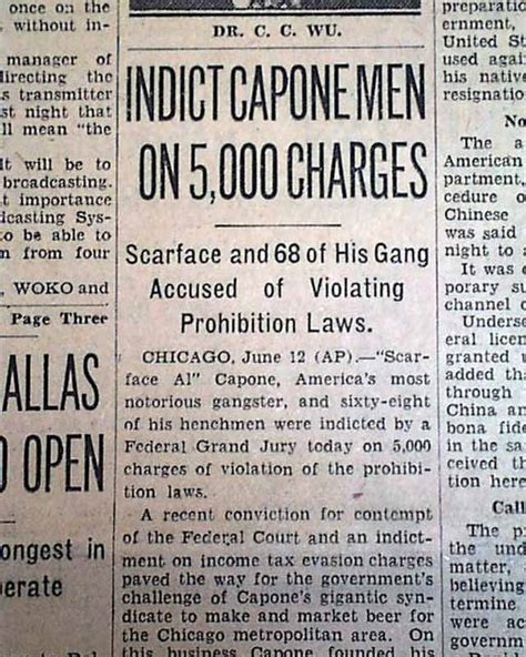 al capone s wars a complete history of organized crime in chicago during prohibition books end of al capone s empire nears rarenewspapers
