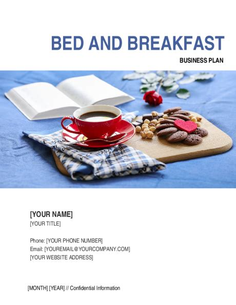 bed and breakfast business plan template sle form