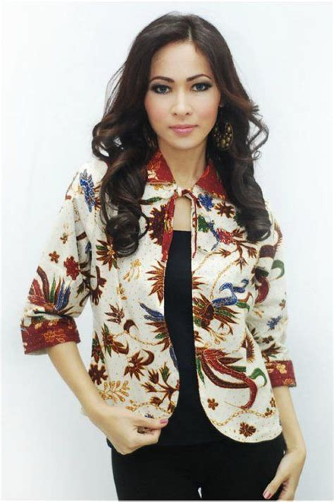 Batik Kerja Baju Blouse Busui Resleting Depan Kikan 18 the world s catalog of ideas