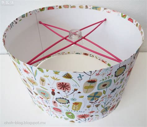 Make Your Own Paper L Shade - 卡纸 木棍 塑料瓶 手工diy漂亮吊灯灯罩 手艺活网