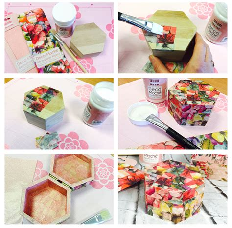 Decoupage How To - deco mache decoupage papers tutorial project ideas