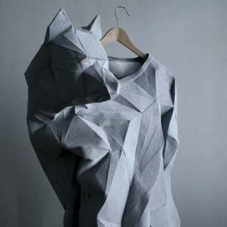 Clothes Origami - inspiration on the folding garments front missingdimensions