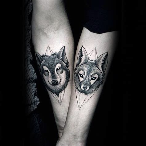 matching wolf tattoos 60 tattoos for masculine design ideas