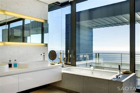Modern Bathrooms South Africa by Modern Residence With Dramatic Living Room