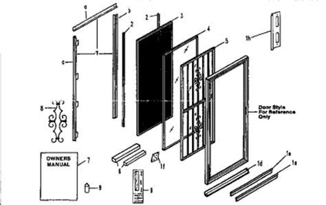 Patio Door Repair Parts Sliding Screen Door Parts Screened Porch Sliding Screen Doors Screens And Doors