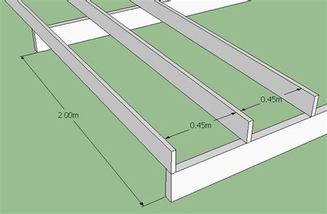 Standard Ceiling Joist Spacing by How To Build A Deck Softwoods