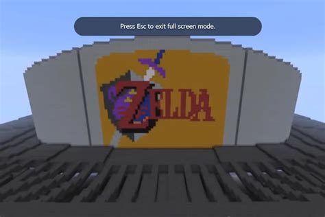 3d Building Drawing the nintendo 64 console in minecraft n64 squid