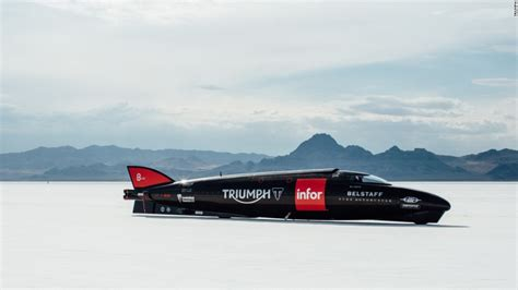 land speed record triumph s attempt at the two wheeled land speed record
