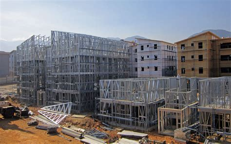 modular construction costs light steel frame prefab construction and materials platform