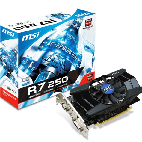 R7 250 Oc 1gb 128 Bit Ddr5 видеокарта msi radeon r7 250 1gb ddr5 r7 250 1gd5 oc