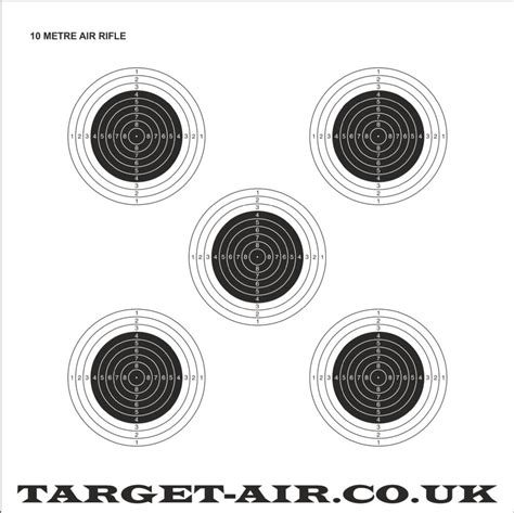 hft printable targets 10 metre air rifle issf nsra practice shooting targets