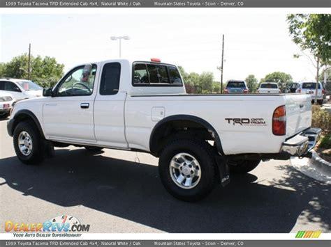 1999 Toyota Tacoma 4x4 1999 Toyota Tacoma Trd Extended Cab 4x4 White