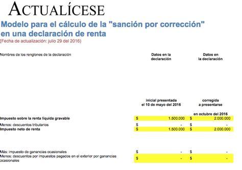 montos para declarar renta 2016 en colombia declaracion de renta 2016 salario minimo colombia 2016