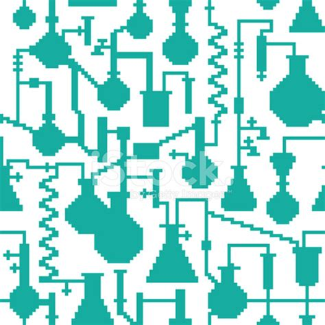 pattern lab nyc seamless retro pixel game science lab pattern stock photos