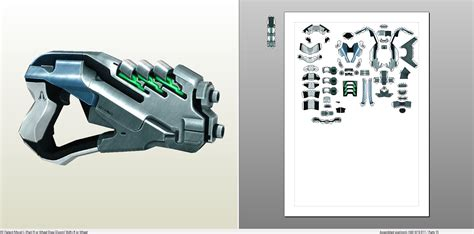 Mass Effect Papercraft - papercraft pdo file template for mass effect 3 edi