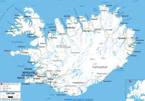 Iceland Map Europe by Island Karte Routen
