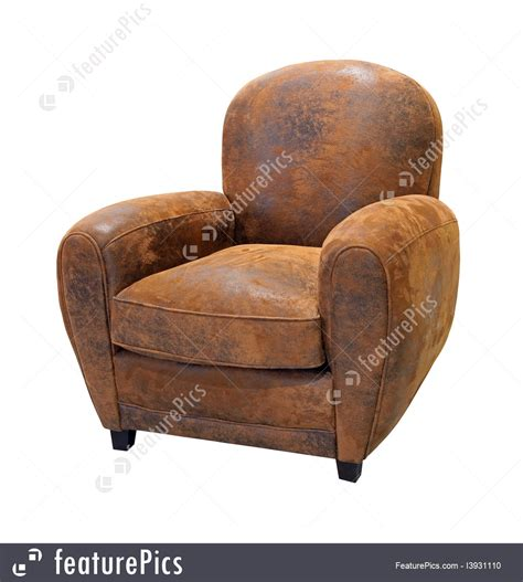 old leather armchair house living old leather armchair stock image i3931110
