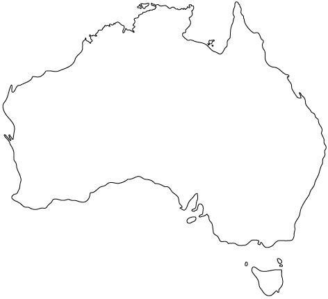 australia map outline blank map of australia clipart best