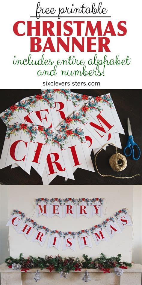 printable merry christmas banner merry christmas sign merry christmas printable merry