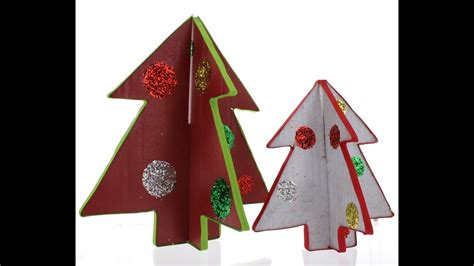 how to make a 3ft cardboard christmas tree cardboard tree craft tutorial