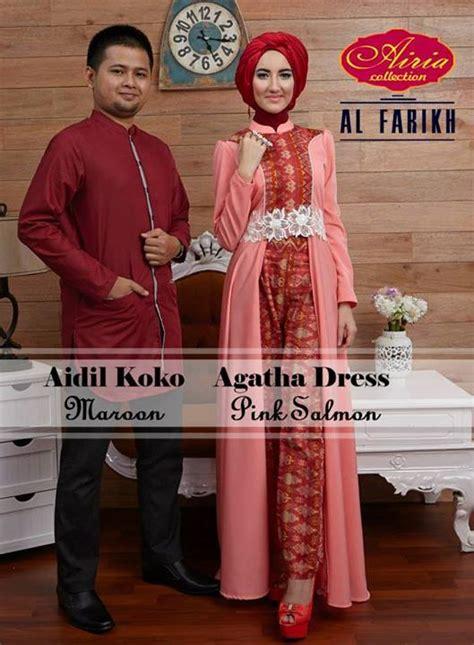 Sarimbit Dress Agatha 1 baju muslim modern untuk ke pesta kondangan pusat busana