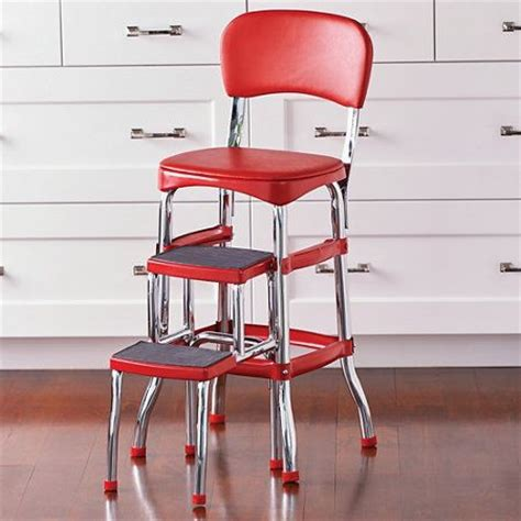 retro kitchen counter chair with step stool the two