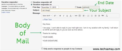 Writing An Away Message For Work Vacation Templates Vacation Email Message Template