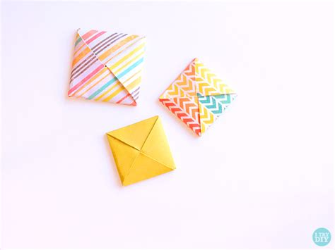 Origami Square Envelope - origami square envelope i try diy