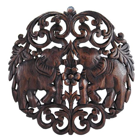 Home Design 3d Gold Test elaborate circular double thai elephant hand carved wood