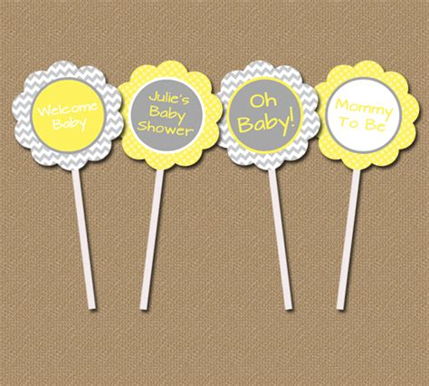 diy baby shower cupcake toppers digital printable decor diy printable