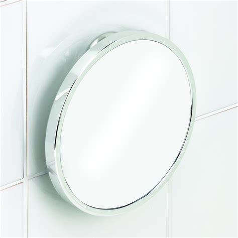 bathroom mirror fog free twist n lock chrome fog free shower shave mirror